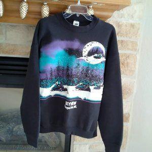 Snowmobile Sweat Shirt- Vintage